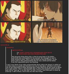 Zuko's development<< I love this << zuko is my favorite. Character development, backstory, attractiveness