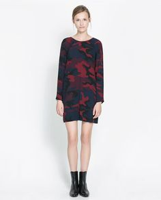 PRINTED DRESS - Dresses - Woman - New collection | ZARA United Kingdom