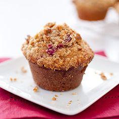Cranberry-Pecan Muffins Recipe - America's Test Kitchen from America´s Test Kitchen - would love to gf/df these!