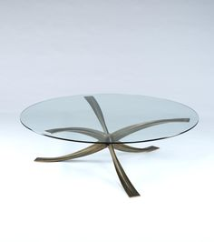 1960s Glass Coffee Table by Michel Mangematin | Rose Uniacke
