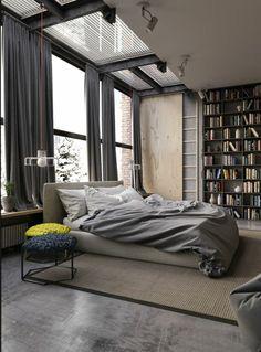 linge de lit couleur gris clair, rideuax longs fenetre grande design francais, tapis beige
