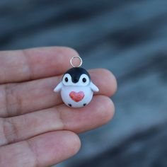 Baby Penguin Charm Necklace by TheLittleMew on Etsy Kawaii cute polymer clay
