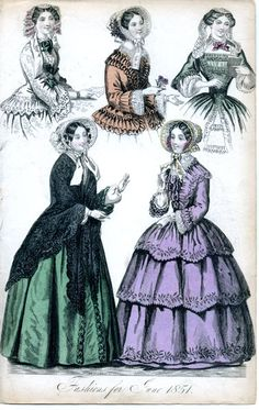 Fashions for April 1850 | Balzaciennes | Pinterest ...