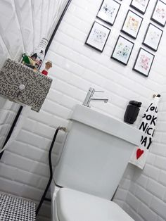 1000 images about id es d co toilettes on pinterest On carrelage metro parisien