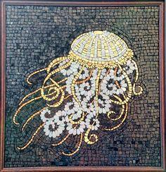 Shimmering Jellyfish, by NicholeAubreyMosaics on Etsy