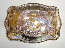"NEW INITIAL "" S ""  RODEO BIG COWBOY WESTERN BELT BUCKLE"