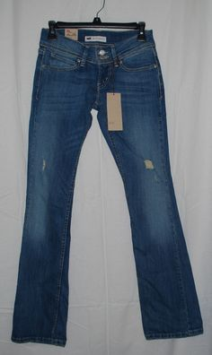 NEW Levi's Blue Distressed Skinny Bootcut Jeans Juniors Size 1 Medium CLEARANCE #Levis #SlimSkinny