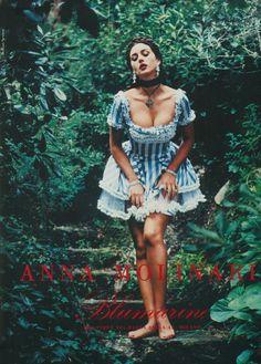 Blumarine Campaign SS 1993 - Monica Bellucci, Carla Bruni By Helmut Newton August 2, 1993 - Spring/Summer - Client: Blumarine - Photographer: Helmut Newton - Model: Carla Bruni - Actor: Monica Bellucci