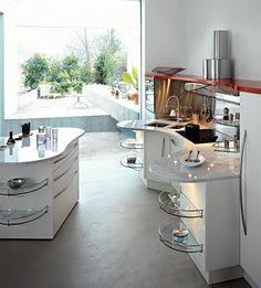 Kompakte Küche Design   Weiß