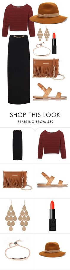 """Confident Is A Wonder"" by predilectionist ❤ liked on Polyvore featuring Ted Baker, Rebecca Minkoff, Ancient Greek Sandals, Irene Neuwirth, NARS Cosmetics, Monica Vinader and Jigsaw"