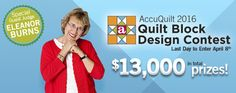 Proud to be a Sponsor of the @AccuQuilt 2016 Quilt Block Design contest!