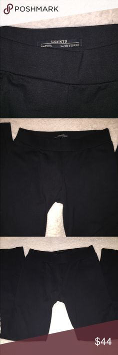All Saints Black Ridley Leggings in size 4 Very cute and sporty All Saints Black Ridley Leggings in size 8. Very good condition with minor wear. All Saints Pants Leggings