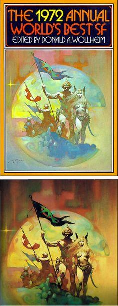 FRANK FRAZETTA - The 1972 Annual World's Best SF editor Donald A. Wollheim - 1972 DAW Books / SFBC - print/cover by capnscomics.blogspot.com