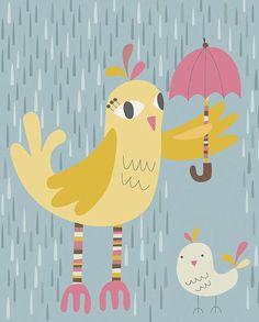 비오는 날 우산 쓴 귀여운 동물들~ : 네이버 블로그