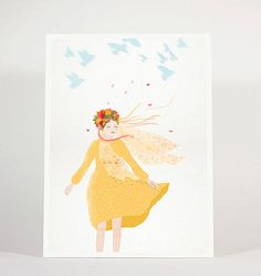 ETERNAL COLLECTION 18x24 cm or 8x10inch (20.3x25.4 cm) / portrait, woman, flower crown, girl, autumn, illustration, wall decor, interior, design, poster, art  ETERNAL BEAUTY I LOVE OCTOBER WHISPERS IN THE WIND EMERALD SKY SILENT JOURNEY  Print on 265g paper.  ** PLEASE FIRST SELECT SIZE AT THE RIGHT;  * * * PLEASE NOTE:  Depending on where you are located, standard frame sizes vary. We wanted to please our customers all around the world, thus there are 2 similar small sizes of art prints…