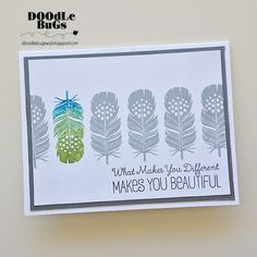 Doodlebugs: Fanciful Feathers from WPlus 9
