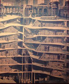 "NY Public Library, diagram illustrating the ""hidden"" stacks"