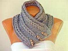 Crochet++Neckwarmer+scarf++++knited+scarf+woman+scarf+by+SenasShop,+$26.90