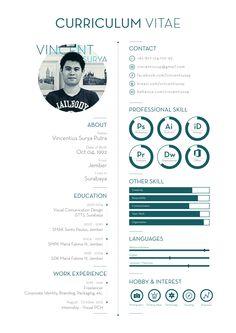 Curriculum Vitae by Vincentiussp Portfolio Design Layouts, Graphic Design Cv, Cv Design, Resume Design Template, Cv Template, Architectural Cv, Resume Layout, Resume Ideas, Architecture Student Portfolio
