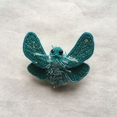 Embroidered Moth Brooch/ Crux