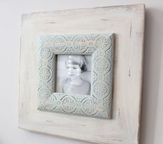 4x4 Uber Distressed Solid with Trade winds Embossed Trim on Etsy, $42.00