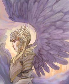 Valkyrie Norse Mythology 85x11 Art Print Unmatted by bytheoakArt, $17.10