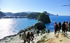 Nishiizu-Dogashima. Here is a place where you can see a lot of the island, terrain by volcano, the best views.