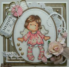 Handmade OOAK Cards by The Hoosier Stamper: Magnolia's Little Tilda from the Little Christmas Collection