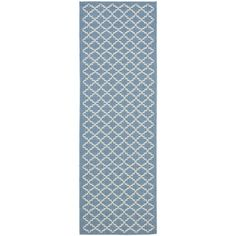 Shop for Safavieh Indoor/ Outdoor Courtyard Blue/ Beige Runner Rug (2'3 x 18'). Get free shipping at Overstock.com - Your Online Home Decor Outlet Store! Get 5% in rewards with Club O! - 15416204