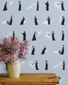 Grow House Grow hand-printed wallpaper
