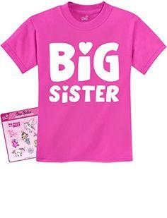 0349e21ea68 TeeStars - BIG SISTER - Sibling Gift Idea Elder Sister Cute Kids T-Shirt  X-Small Black. Clothing Labels ...