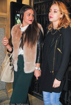 Just like old times: Brooke Vincent and Sacha Parkinson spotted leaving the Rosso Restaurant in Manchester