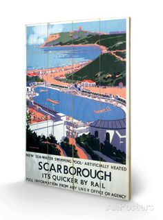 Scarborough Wood Sign - AllPosters.co.uk