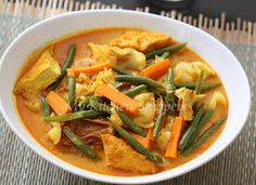 My Kitchen Snippets: Lontong or Kuah Lodeh/Mix Vegetable in Coconut Broth Spicy Recipes, Asian Recipes, Cooking Recipes, Ethnic Recipes, Malaysian Cuisine, Malaysian Food, Malaysian Recipes, Malay Food, Midweek Meals