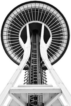 Space Needle. @designerwallace    THIS is how I remember looking at it when my family attended the Seattle World's Fair in 1962...