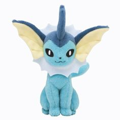 Amazon.com : Pokémon Center Original Plush Doll Sitting Trick Pose Vaporeon : Plush Animal Toys : Toys & Games