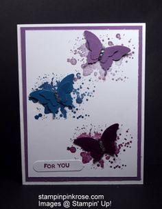 Stampin' Up! Thinking of You card made with Gorgeous Grunge stamp set and designed by Demo Pamela Sadler. See more cards at stampinkrose.com #stampinkpinkrose#etsycardstrulyheart.com