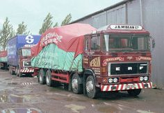 Something we don't see much now, a traditional haulage 8 wheeler with a roped and sheeted load. Big Rig Trucks, Semi Trucks, Cool Trucks, Classic Trucks, Classic Cars, Old Lorries, Road Transport, Truck Art, Bus Coach