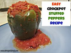 Saving Said Simply: Cooking Said Simply - Easy Crockpot Stuffed Peppers Recipe.