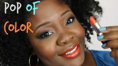 "Blue and Orange on #DarkSkin NickaKCosmetics Orange Lipstick ""Emotion""."