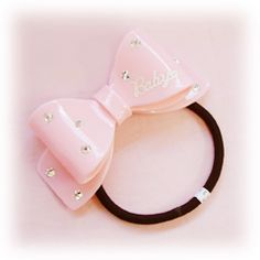 Baby, the Stars Shine Bright: Hard Ribbon Hair Tie in pink