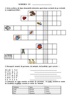 6654510 fise-limba-romana-clasa-i Visual Perceptual Activities, School Lessons, After School, Kids Education, Preschool Activities, Homeschool, Crafts For Kids, Parenting, Romans