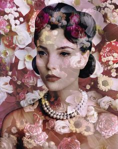 Le livre de photographie art of fashion photography par Patrick Remy : Valérie Belin,  Lily (With Garden Roses), from the Black Eyed Susan series, 2010