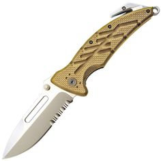 Ontario 8762 XR-1 Folder Serrated, Desert Tan