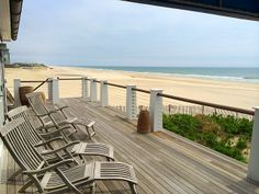 Patio Furniture is out! #summer is almost here. Beautiful view from my renovated #oceanfront beach cottage.  #hamptons #luxury #oceanfront #realestate  www.flyingpointwatermill.com  www.timdavishamptons.com