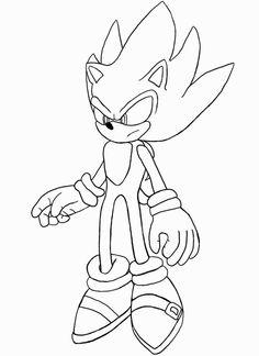Printable Sonic the Hedgehog Werehog Coloring in sheets - Printable ...