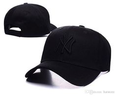 all black Men Peaked Caps Snapback Baseball Caps NY Golf Cap Sports New York Adjustable Women casquette Men Hunting Hats Many Style SD