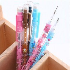 New Cute Kawaii Plastic Mechanical pencil Lovely Moustache Hello Kitty Automatic Pen for Writing Drawing Free 287 Japanese School Supplies, Free School Supplies, Office And School Supplies, Cool Stationary, Cute Stationery, Kawaii Pens, Cute Pens, Kids Makeup, Led Pencils