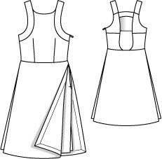 Open Back A-Line Dress 07/2015 #121 – Sewing Patterns   BurdaStyle.com