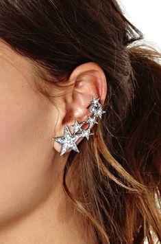 star ear cuff #style #jewelry #earrings